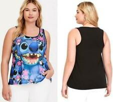 New 2X 18/20 Disney Lilo and Stitch Floral Sublimation Tattoo Tank Top Torrid