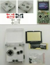 GBA SP Game Boy Advance SP Replacement Housing Shell Transparent Clear BUTTONS!