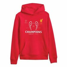 Liverpool FC Red Mens Football UCL Hoodie Champions of Europe LFC Official