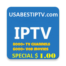 USA IPTV  SUBSCRIPTIONS 8000+ Live TV Channels, VOD, Sports - TRIAL 48Hrs.