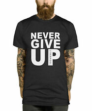 Never Give Up T Shirt Liverpool Champions League Mo Salah Inspired Unisex Tops..