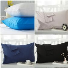 2x Pillow Case Luxury Cases Poly Cotton Pair Pack Housewife Bedroom Pillow Cover