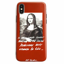 Cute Smiling Mona Lisa Phone Case Silicone Cover For iPhone X XR MAX 8 7 6S Plus