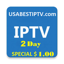 IPTV  SUBSCRIPTIONS 8000+ Live TV Channels, VOD, Sports - 2 Days
