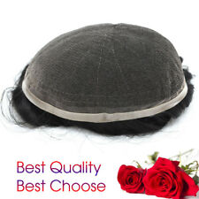 Full French Lace Mens Toupee All Lace Hairpieces Human Hair Lace Wigs Breathable