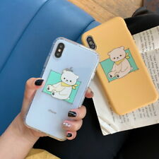 For iPhone XS Max XR X 8 7 6s 6 Plus Bear Pattern Cover TPU Shockproof Soft Case