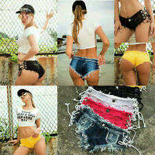 Sexy women's shorts low waist ripped hole mini jeans stylish denim short pants