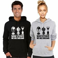 Ladies Hoodie England Fan The Only 3 World Cup Winners Football Rugby Cricket
