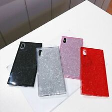 For iPhone Xs Max Xr X 8 7 6s Plus Square Glitter TPU Soft Shockproof Case Cover