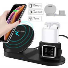 3 in 1 Wireless Fast Charger Stand Dock Holder For Apple iPhone 8 X XR XS Max