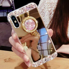 Bling Diamond Crystal Ring Holder Mirror Case Cover for Xiaomi F1/Mi9/A2 Lite