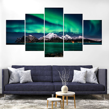 Aurora Borealis Canvas Print Painting Framed Home Decor Wall Art Picture Poster