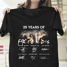 25 Years Of Friends Character Signatures T Shirt Black Cotton Men S-6XL