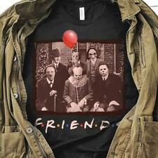 Horror Friends Pennywise Michael Myers Halloween T Shirt Black Men Cotton S-6XL