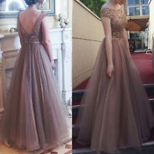 Women Backless Sleeveless Chiffon Dress Gown Wedding Bridesmaid Party Dresses