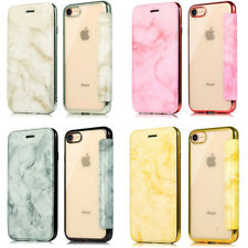 Leather Flip Cover Plating TPU Clear Back Case For iPhone XS Max XR X 8 7 6 Plus