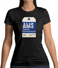 Amsterdam Tag - Womens T-Shirt - Holland - Travel - Holiday - City - Netherlands