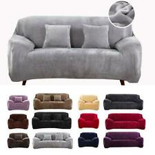 1/2/3/4 Seater Velvet Sofa Covers Slipcover Stretch Settee Couch Protector JS055