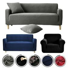 1/2/3 Sofa Couch Slipcover Stretch Covers Elastic Fabric Settee Protector JS056