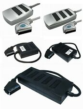 2 Way 3 WAY 5 Way SCART Splitter Box (Switched) with 0.5 Metre Cable