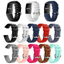 Stretch Silicone Replacement Watch Bands Wrist Strap For Fitbit Charge 3 Style