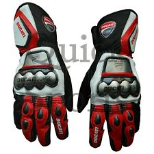Ducati Corse MotoGp Genuine Leather Motorbike Gloves All Sizes Available