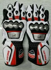 Ducati Corse MotoGp Genuine Leather Motorbike Gloves Replica All Sizes Available
