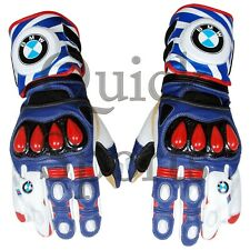 BMW Motorrad MotoGp Genuine Leather Motorbike Racing Gloves All Sizes Available