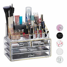 Makeup Organizer Set of 2, Cosmetic Tower with Lipstick Holder, Makeup Stand