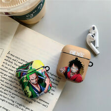 Anime One Piece Wireless Bluetooth Earphone Case Charging box For Apple Airpods