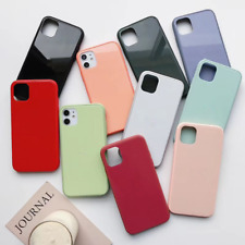 Fashion Simple iPhone Case Silicone Soft Cover For iPhone XR X XS Max 11 Pro Max
