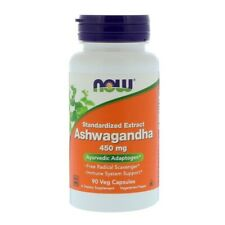 NOW Foods Ashwagandha Extract 450mg 90 or 180 veggie capsules