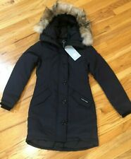 NEW CANADA GOOSE ROSSCLAIR PARKA COAT WOMEN NAVY 2580L COYOTE DOWN FREE SHIP