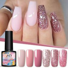 MAD DOLL 8ml UV Gel Nail Polish Rose Gold Glitter Sequins Soak Off UV Gel