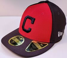 """CLEVELAND INDIANS MLB New Era 59FIFTY """"C"""" LOW PROFILE Authentic FITTED CAP New!"""