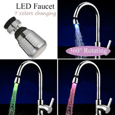 Color Changing Shower Glow Led Light Water Tap Water Faucet Temperature Sensor