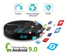 SMART TV BOX 2.4 Ghz / 5.0 Ghz WIFI Android 9.0 1080p 4GB 64GB Quad Core Chip
