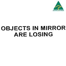 Etched Glass Effect Corvette Mirror Decal Objects In Mirror Are Losing
