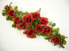 Artificial Silk Flowers Dew Drop Rose Table Centrepiece / Wedding Car Shelf