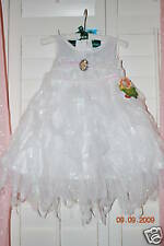 Disney Store Tinkerbell Fairies Costume Dress The Arrival White Angel Gorgeous!