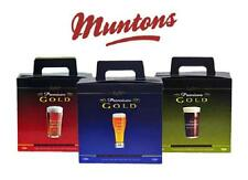 Muntons Premium Gold Beer and Cider making kits. Selection of any 3 you choose.