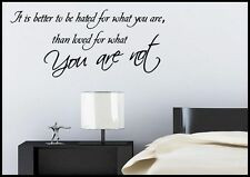 Love Loved Life Quote Wall Sticker Bedroom Room Decal Mural Transfer Art Tattoo