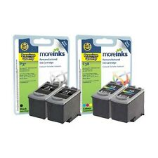 4 Premium Remanufactured Canon PG-37 / CL-38 Ink Cartridges for Canon Printers
