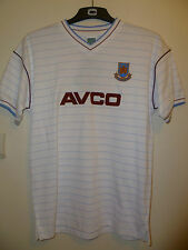 Bnwt West Ham United Away Retro Football SS Shirt 1986