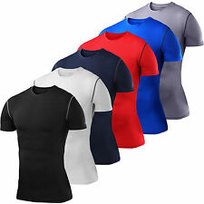 Mens & Boys PowerLayer Running Compression Base Layer Short Sleeve Top Shirt