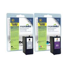 2 Remanufactured No.32 / 33 Ink Cartridges for Lexmark Printers