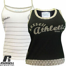 Ladies Running Gym Vest Sleeveless Training Russell Athletic