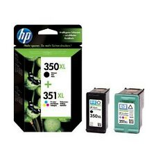 2 Genuine HP 350XL / 351XL Printer Ink Cartridges for Photosmart C4488 & more