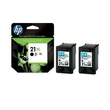 2 Genuine HP 21XL Black Printer Ink Cartridges C9351CE for Deskjet 3910 & more
