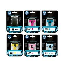 6 Genuine HP 363 Ink Cartridges CB333EE for Printers inc Photosmart C5170 & more